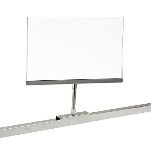 Retail Rack Acrylic Frame Magnetic Base Sign Holder, 7