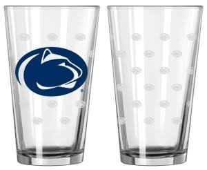 Boelter Brands NCAA Penn State Nittany Lions Pint GlassSatin Etch 2 Pack, Clear, One ()