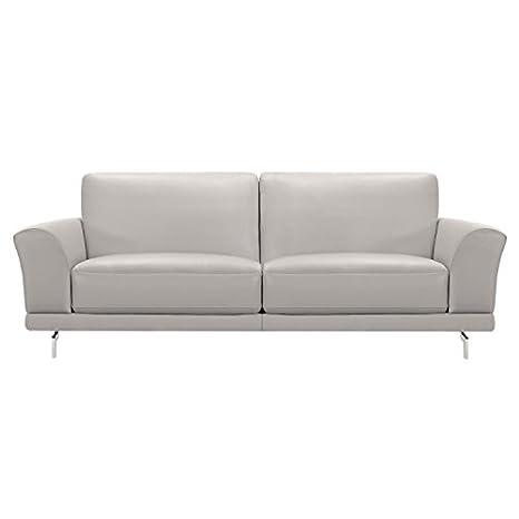 Amazon.com: Everly lcev3gr sofás, piel gris: Kitchen & Dining