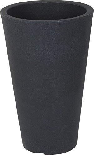 Bekannt Spetebo XXL Pflanzsäule anthrazit konisch - 55x35 cm - Kunststoff QP84