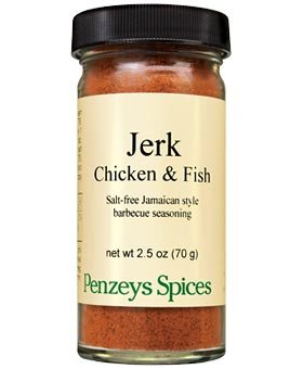 Jerk Chicken and Fish Seasoning By Penzeys Spices 2.5 oz 1/2 cup jar