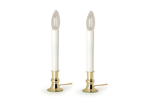 Darice 6206 Brass Plated Candle Lamp with On/Off Sensor (2)