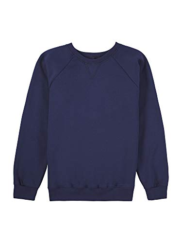 Fruit of the Loom Boys' Fleece Crewneck Sweatshirt, GHOST NAVY, 2X-Large