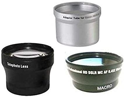 Canon A520 Tele Lens Tube Adapter Bundle for Canon Powershot A510 Wide Canon A540