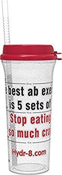 Hydr-8 32oz Timed Water Bottle The best ab exercise is 5 sets of Stop eating so much crap