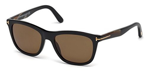 Tom Ford FT0500 01H Shiny Havana Andrew Wayfarer Sunglasses Polarised Lens - Sunglasses Havana Tom Ford