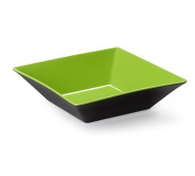Brasilia ML-249-G/BK Square Bowl, 12.8 quart, Green/Black (Pack of 3)
