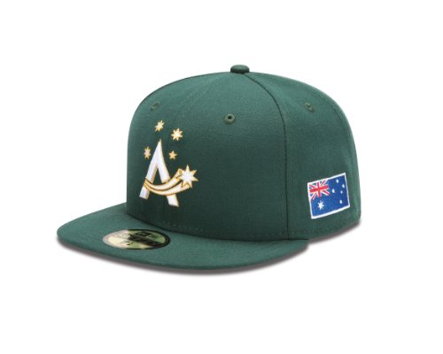 World Baseball Classic 2013 Australia Official On-Field 5950 Fitted Cap, Green, 7-1/4