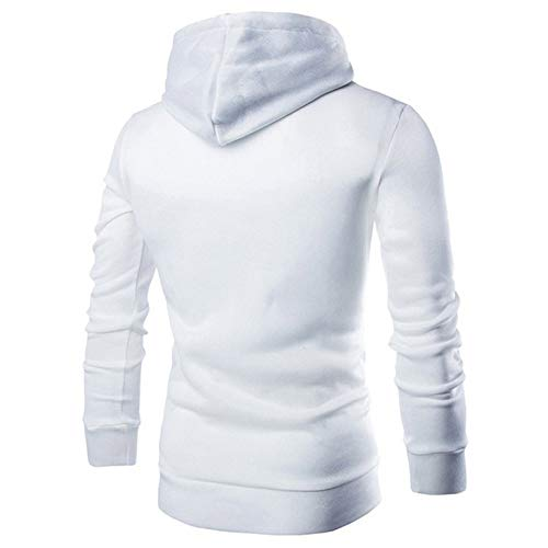 Sweats Blanc Outwear Longue Hoodie Taille Capuche Tops Plaid Grand Chic Blouse Pullover Homme Youngii Manche 06x71Pqn