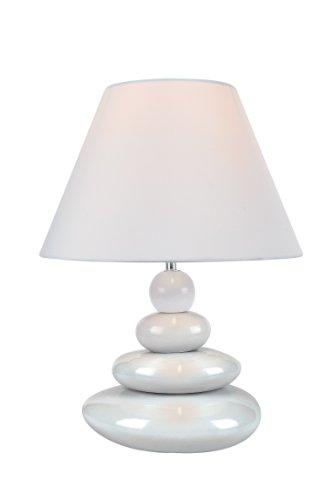 Lite Source LS-22112WHT Table Lamp, White Ceramic Body with Fabric Shade (White Ceramic Body)