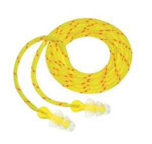 3M P3001 Multi-Flange Polymer Corded Earplugs
