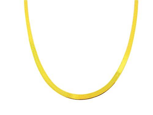 - US-Shopsmart Women's Ladies 10k Yellow Gold 3 mm(0.12 in) Herringbone Chain Herringbone Necklace 16-24 in (18)