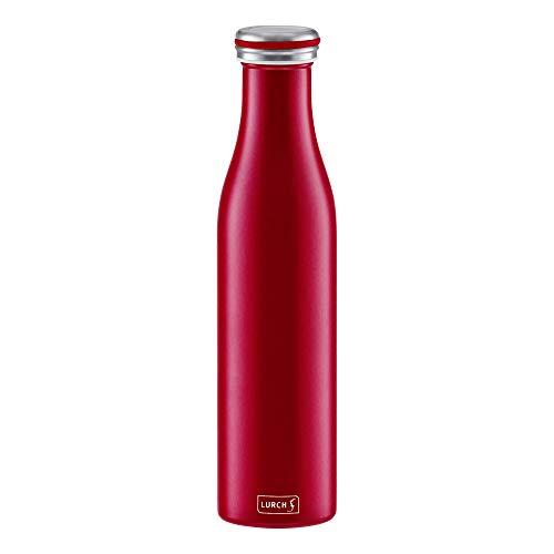 Lurch 240926 Thermoflasche Thermo-Flasche für heiße und kalte Getränke aus Doppelwandigem Edelstahl, 0,75l,