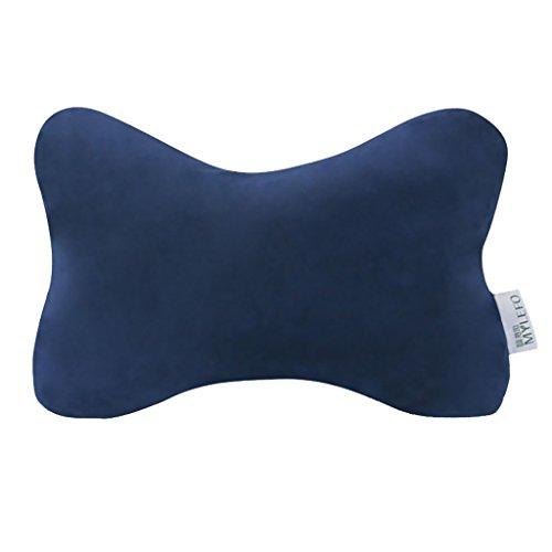 durable service Latex pillow, Bone Shape Design Improve Insomnia Cervical Vertebra Suitable For Bedrooms And Cars (Color : Brown)
