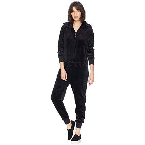 浅い従事したライフル(ジューシークチュール) Juicy Couture レディース ワンピース?ドレス オールインワン Track Luxe Velour Jumpsuit w/Charm Pull [並行輸入品]