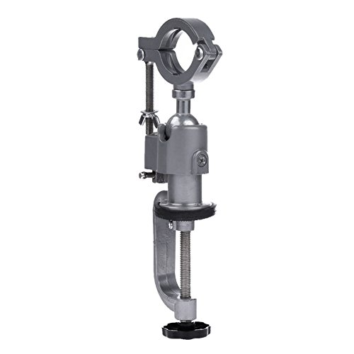 ttnight Aluminium Alloy 360 Rotating Clamp-on Grinder Holder Bench Vise for Electric Drill Stand