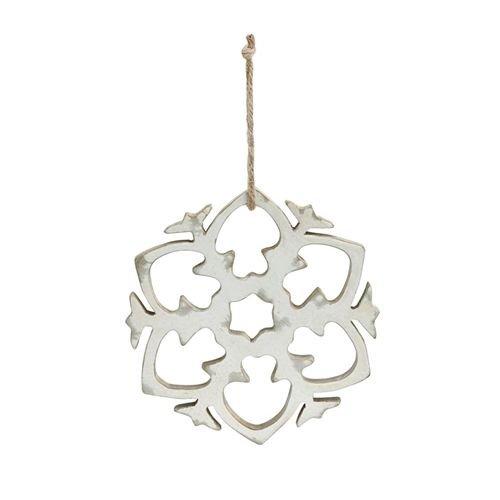 Demdaco Wood Snowflake Ornament