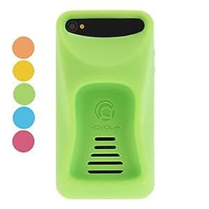Conseguir Funda de diseño ergonómico con el soporte y la ranura para tarjeta del Interior para iPhone 4/4S (colores opcionales) , Amarillo