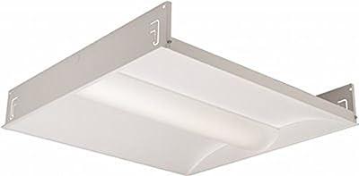 HUBBELL LIGHTING LCAT22-35ML-G-EDU Columbia Lighting Led Architectural Troffer, 2 x 2', 3500K, Medium Lumen, Grid Lay-In, 0-10V Dimming, 120-277V