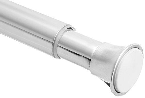 (AmazonBasics Tension Shower Doorway Curtain Rod, 24-36