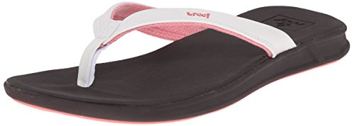Womens Reef Brown for Comfort White Catch Flip Cushion Rover Flops Sandals Waterproof with Women Soft Footbed URwrqRBd