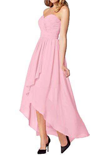 Chiffon A La Rock mia Linie Herrlich Hi Partykleider 2016 Lang Rosa Abiballkleider Geraft Braut lo Abendkleider IpIwOrxqPn