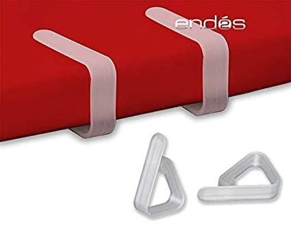 ENDOS Pinza SUJETA-Mantel PLASTICO Transparente 100 uds.