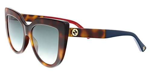 Gucci GG0164S 004 Havana Havana Cat Eye - Gucci Sunglasses