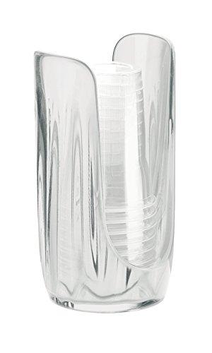 Guzzini My Kitchen Plastic/Paper Cup Dispenser, 7-1/3-Inches, Transparent