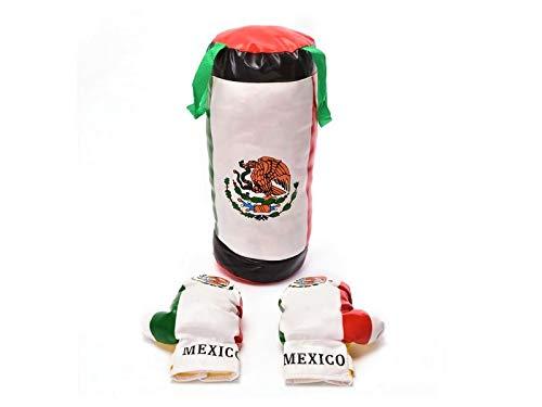 o.b Toys &ギフトキッズメキシコ国旗Boxing Set Toy w / Punching Bag +ボクシンググローブ、子供のごっこChampion Boxing Playsetスポーツ物理トレーニングゲーム B07FDLGMM3