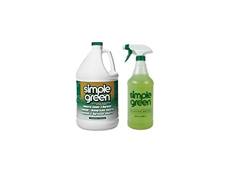 Degreaser Gallon Bottle (Simple Green Cleaner and Degreaser, 1 Gallon & 32 oz Dilution Bottle (1))