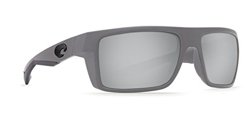 Costa Del Mar Motu Sunglasses Matte Gray/Copper Silver Mirror 580Plastic (Gray Sunglasses Silver Mirror)