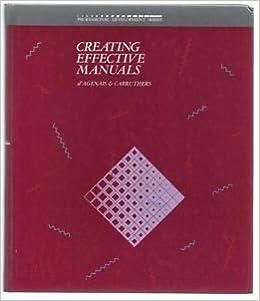 Creating Effective Manuals (Professional Development Series)