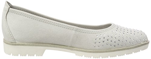 Marco Tozzi Damen 22114 Slipper Grau (Lt.Grey)