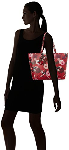 De Hwff6693230 red Bolsos Floral Guess Mujer Rojo Mano HBE6xwq