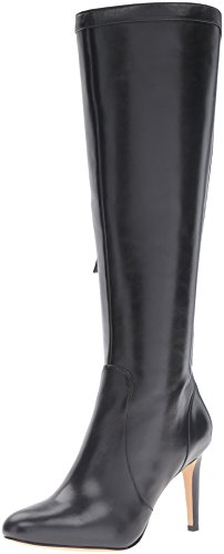 Nine West Women's Holdtight Leather Knee-High Boot, Black, 5.5 M US by Nine West