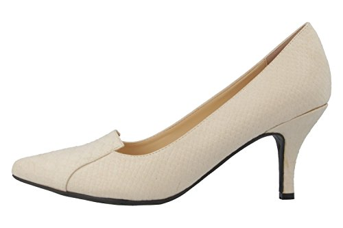 Andres Machado–Escarpins–Femme Beige Chaussures en übergrößen