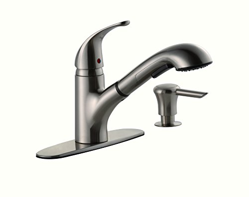 On Sale  Hole Brush Nickel Kitchen Faucets