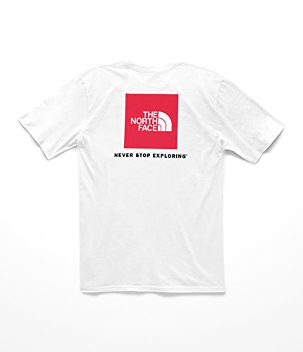 The North Face Men's S & S Red Box Tee - TNF White & TNF Red - M