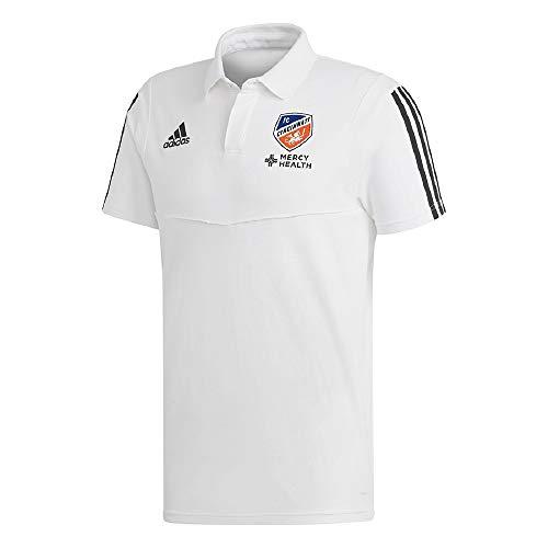 adidas FC Cincinnati Men's Tiro 19 Coaches White Polo Shirt (Large)