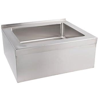 """Single Floor Mounted Mop Sink Size: 6"""" H x 33"""" W x 25"""" D"""