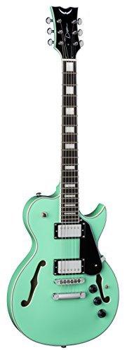 Dean SHIRE AQA Semi Hollow Body Electric Guitar With Piezo Aqua [並行輸入品]   B07FRR8J96