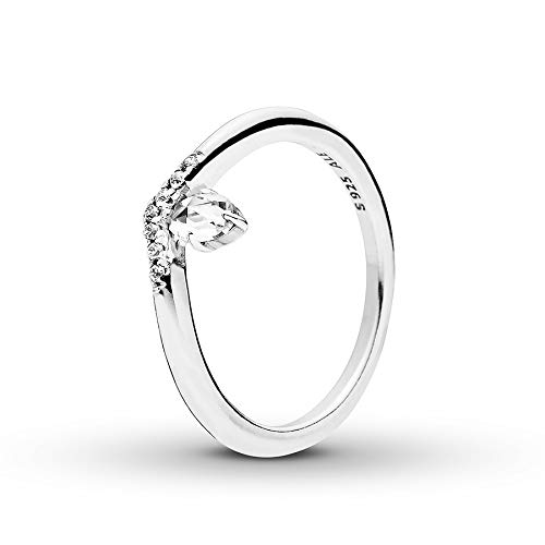 Gold Wishbone Rings (PANDORA Classic Wish Ring 925 Sterling Silver, Size: EUR-54, US-7 - 197790CZ-54)