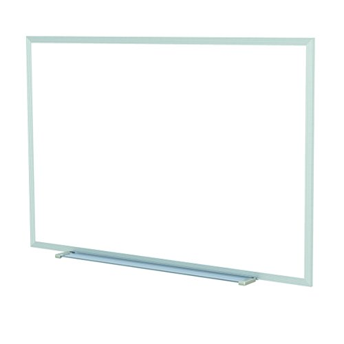 Ghent 48.5 x 60.5 Inches Aluminum Frame Non-Magnetic Whiteboard w/ 1 Marker and Eraser - Made in U.S.A. by Ghent