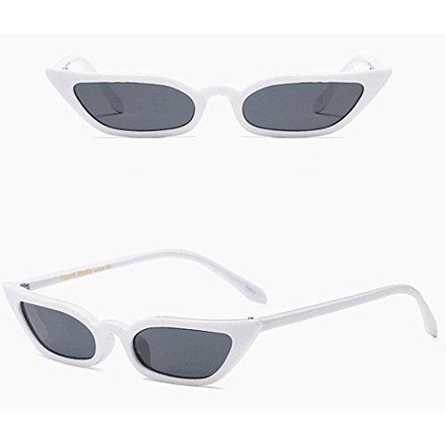 Blanc Familizo UV400 de Chat Rétro Oeil Verre Petit Cadre Vintage Lunettes Soleil de de qf4OqZH