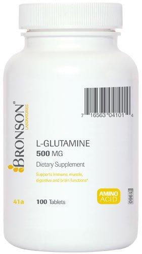 Bronson Labs: L-Glutamine 500 mg. Free Form, 100 comprimés