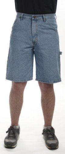Loose Carpenter Shorts - Wrangler Men's Big Rugged Wear Carpenter Short Vintage Indigo,50