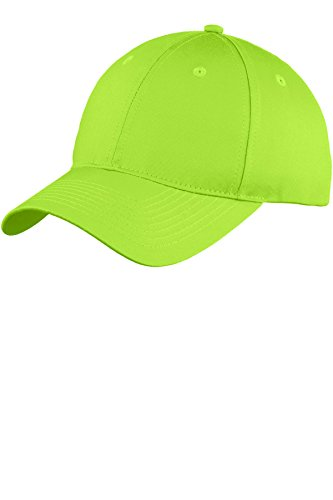 Port & Company Six-Panel Unstructured Twill Cap>One size Lime C914