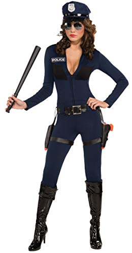 Forum Traffic Stopping Cop Costume, Blue,