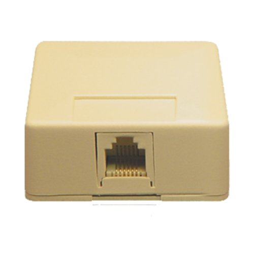 ICC ICC-IC625SB6IV SURFACE MOUNT JACK- 6P6C- IVORY